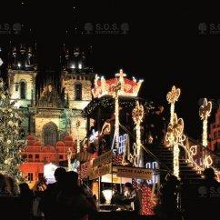 ВИДЕО: Освещение новогодней ёлки, Staroměstské площадь, Прага, Чешская Республика