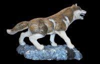 Волк (шерсть, светящиеся красные глаза)